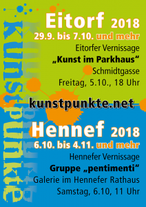 Plakat Kunstpunkte 2018