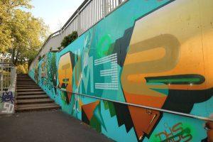 Graffiti an der Unterführung Beethovenstraße