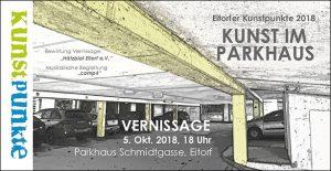Einladungskarte Kunst im Parkhaus
